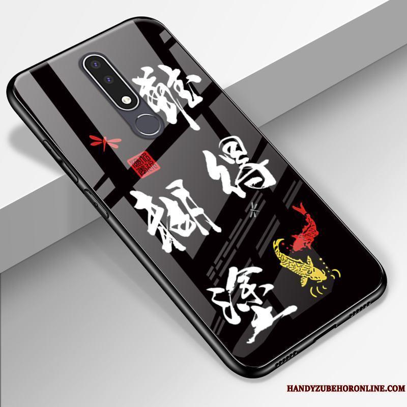 Nokia 3.1 Plus Arte Funda Silicona Marca Tendencia Nobuck Personalizada Protección Vidrio
