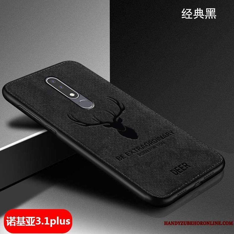 Nokia 3.1 Plus Funda Protección Paño Silicona Creativo Suave Tendencia Carcasa