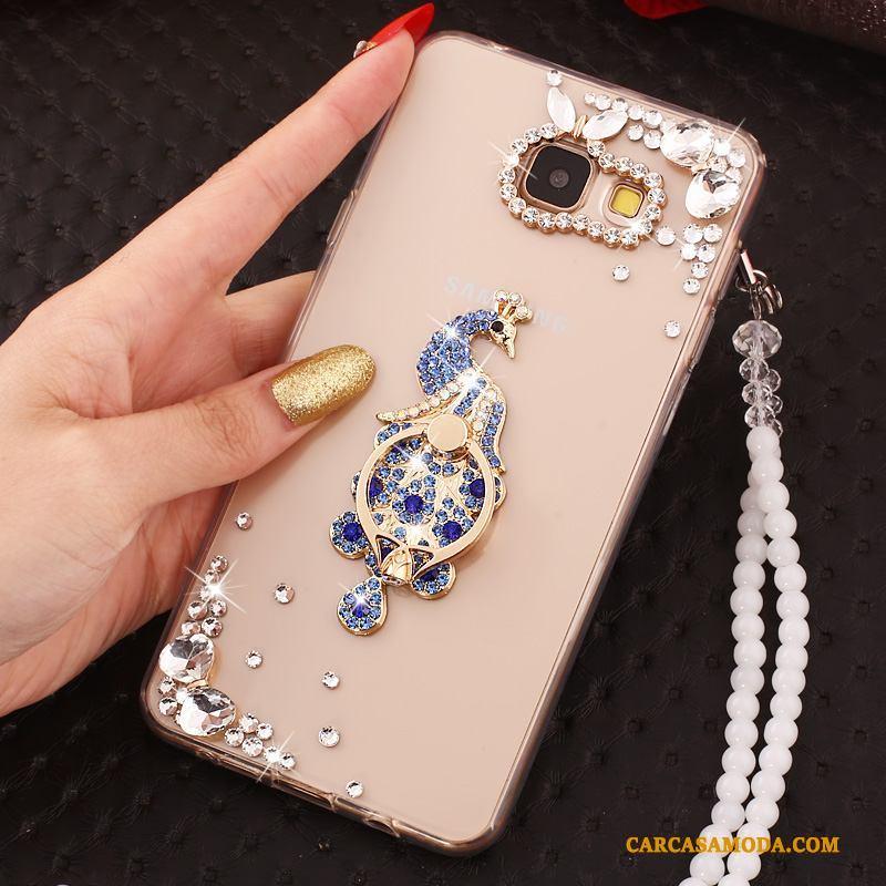 Samsung Galaxy A3 2016 Anti-caída Estrellas Carcasa Silicona Oro Rosa Funda Silicona Suave
