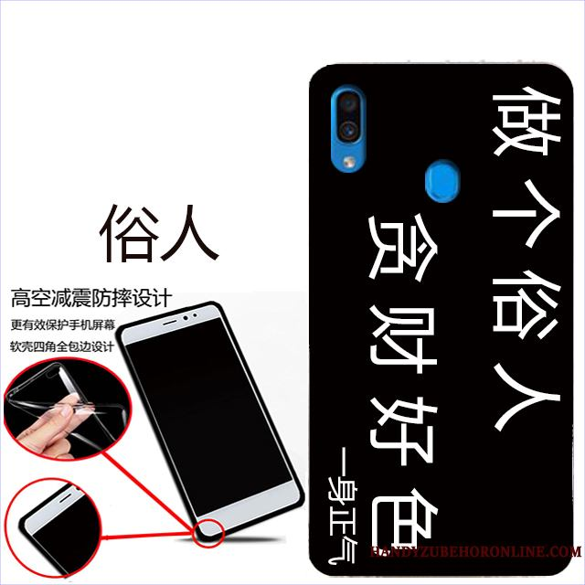 Samsung Galaxy A40 Estrellas Rojo Teléfono Móvil Funda Suave Carcasa Protección