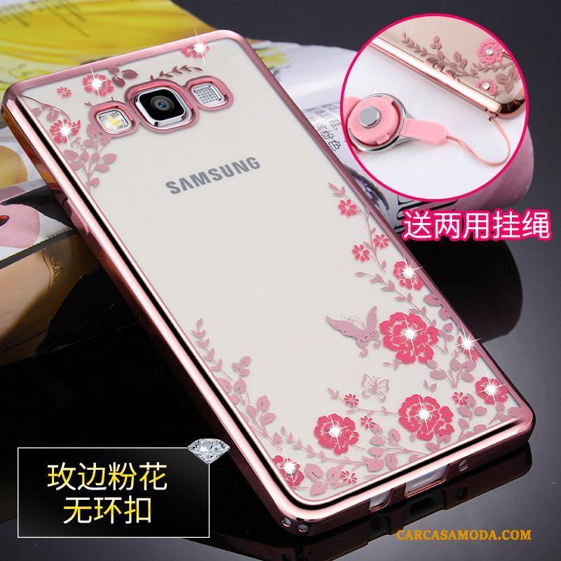 Samsung Galaxy A5 2015 Funda Adornos Colgantes Protección Silicona Estrellas Anti-caída Suave Carcasa