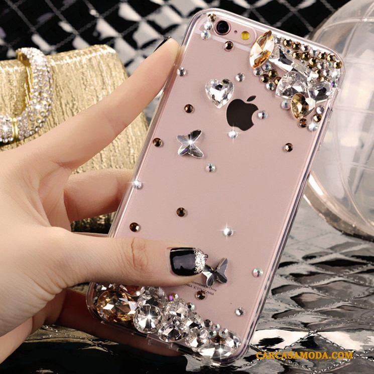 Samsung Galaxy A5 2016 Protección Tendencia Funda Rhinestone Transparente Anti-caída Estrellas