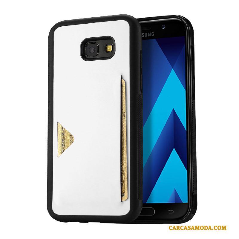 Samsung Galaxy A5 2017 Cuero Anti-caída Tarjeta Carcasa Estrellas Funda Silicona Protección