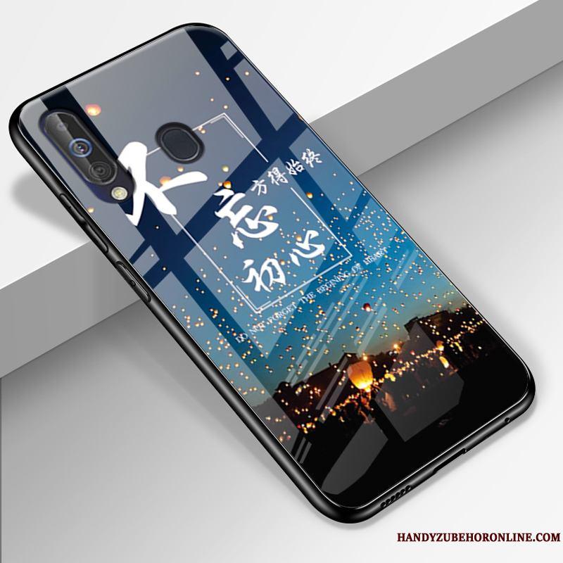Samsung Galaxy A60 Carcasa Todo Incluido Funda Silicona Vidrio Azul Marca Tendencia Protección