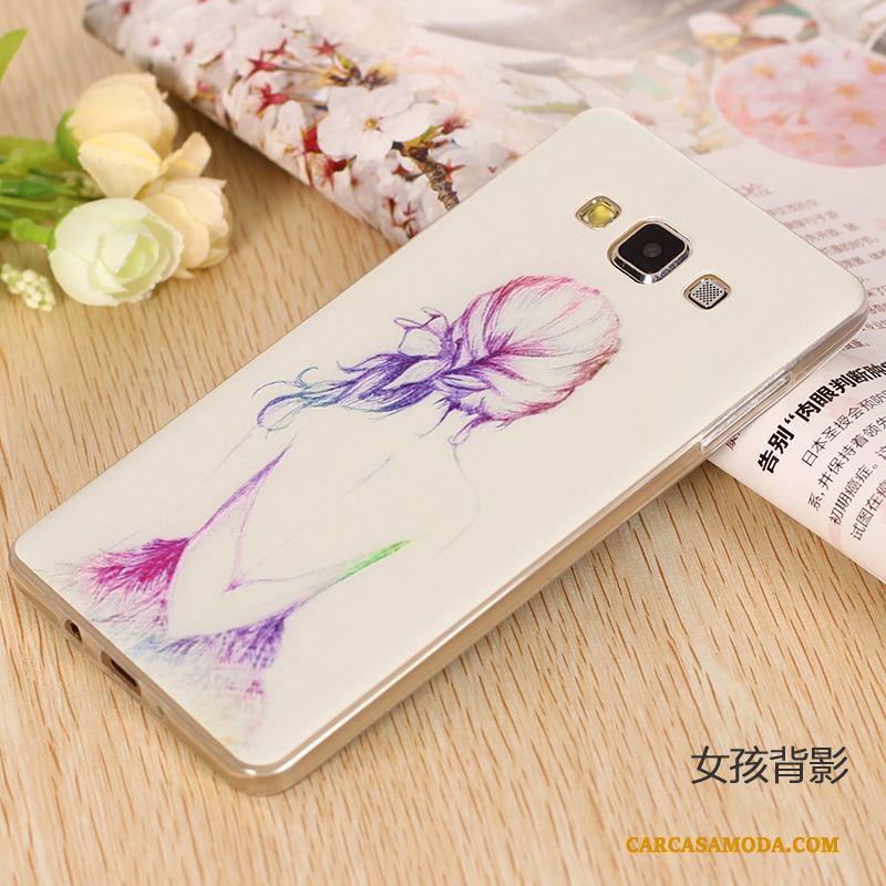 Samsung Galaxy A7 2015 Flores Suave Silicona Protección Borde Slim Funda