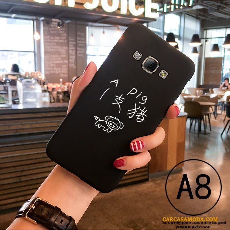 Samsung Galaxy A7 2015 Todo Incluido Creativo Suave Negro Nobuck Slim Funda Silicona