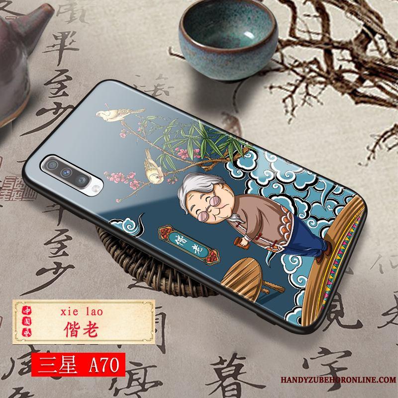 Samsung Galaxy A70 Moda Funda Silicona Duro Anti-caída Rojo Pareja