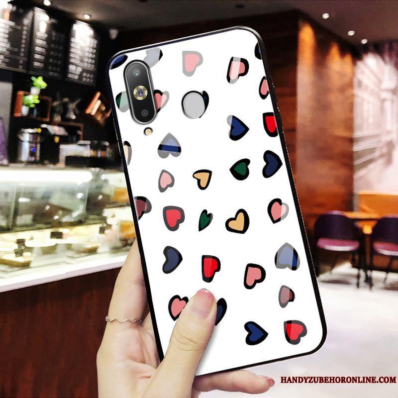 Samsung Galaxy A8s Funda Moda Marca Tendencia Personalidad Amor Rojo Espejo Slim