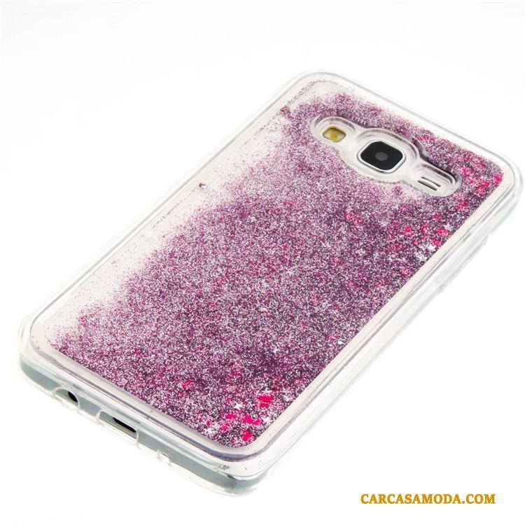 Samsung Galaxy J5 2015 Funda Protección Rosa Arenas Movedizas Todo Incluido Silicona Carcasa