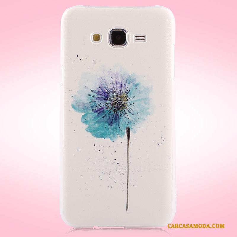 Samsung Galaxy J7 2015 Color Funda Silicona Protección Tendencia Duro Carcasa Estrellas