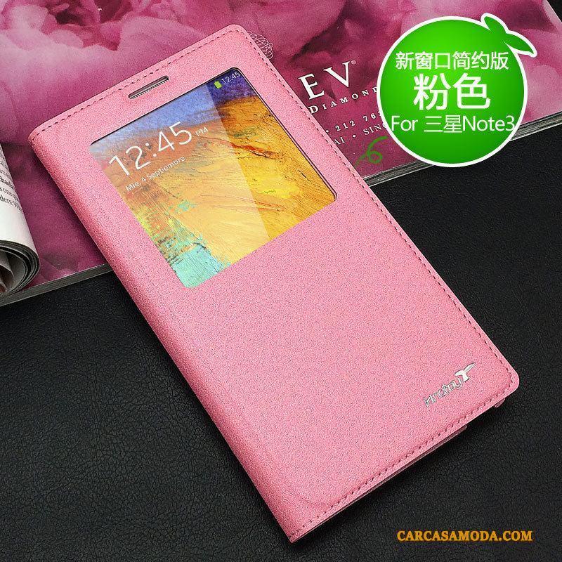 aeb5b718dd8 Samsung Galaxy Note 3 Protección Nuevo Estrellas Teléfono Móvil Carcasa  Funda De Cuero Rosa Baratos