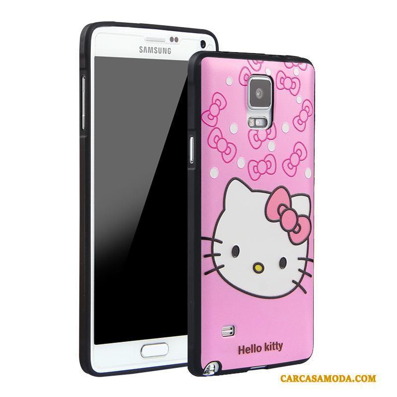 485a2dde1ce Samsung Galaxy Note 4 Funda Carcasa Todo Incluido Protección Azul Relieve  Dibujos Animados Silicona Barata