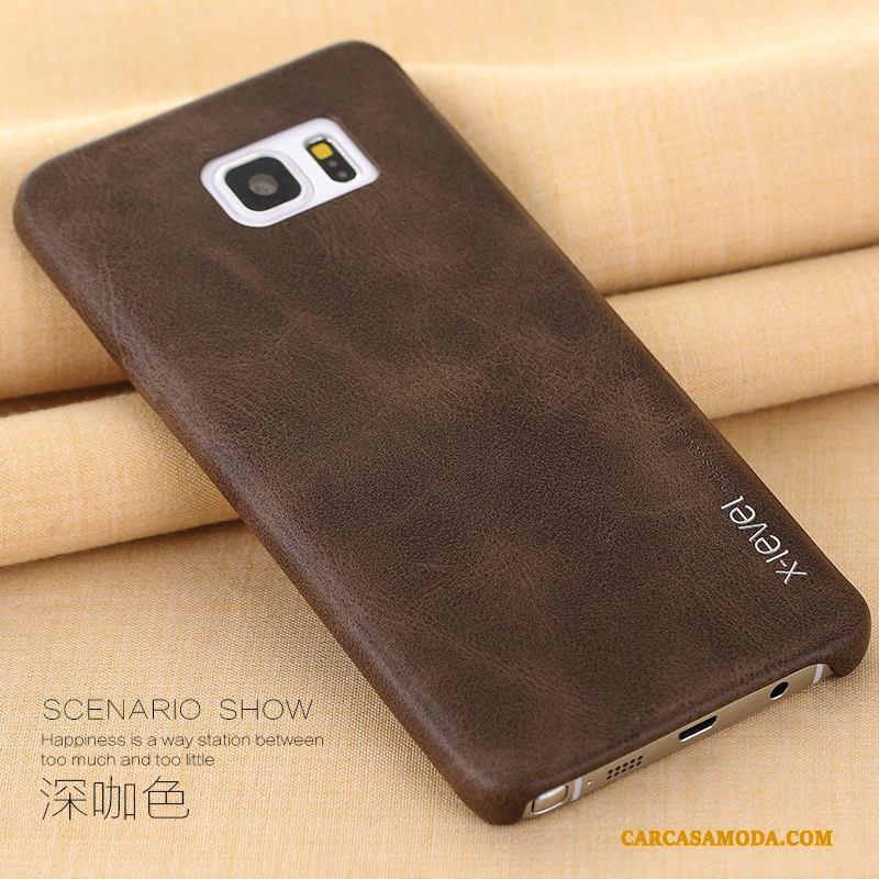 Samsung Galaxy Note 5 Business Funda De Cuero Anti-caída Carcasa Teléfono Móvil Slim Rojo