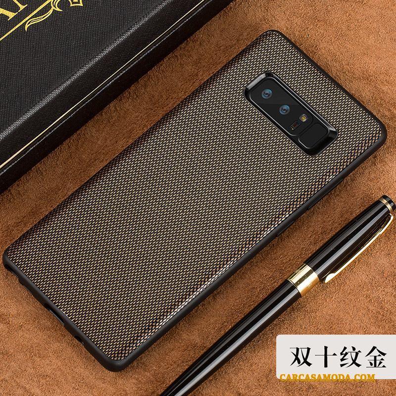 Samsung Galaxy Note 8 Anti-caída Estrellas Negro Duro Business Funda De Cuero Elegante