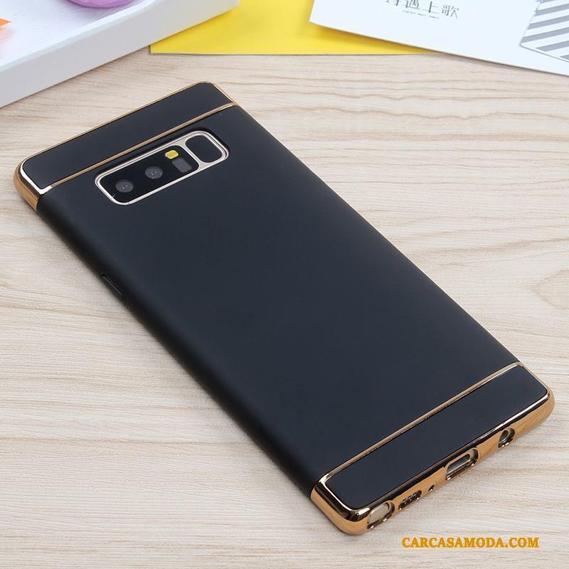 Samsung Galaxy Note 8 Funda Silicona Todo Incluido Duro Oro Rosa Carcasa Protección Estrellas