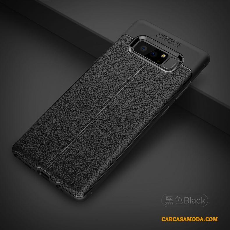 Samsung Galaxy Note 8 Funda Tendencia Carcasa Suave Litchi Protección Azul Patrón