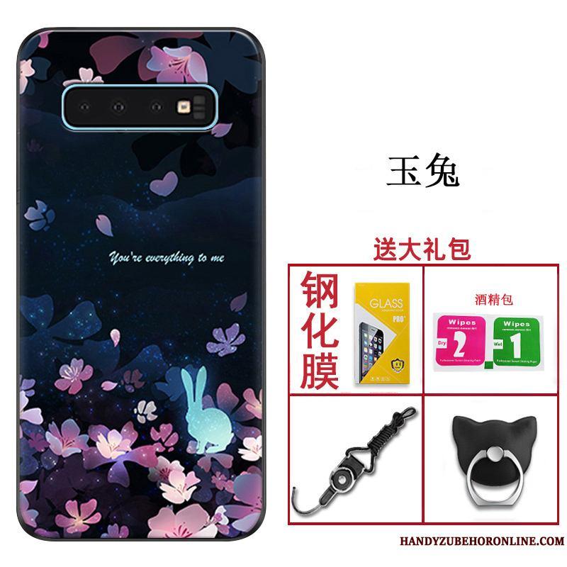 Samsung Galaxy S10 Funda Anti-caída Slim Carcasa Silicona Personalizada Estrellas Protección