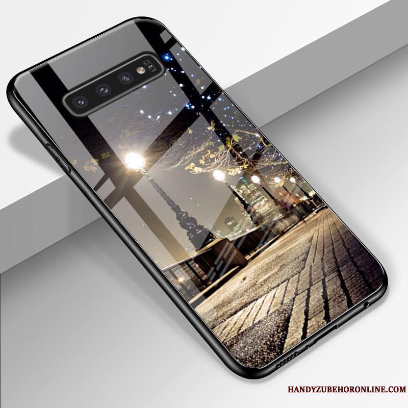 Samsung Galaxy S10 Funda Silicona Carcasa Personalidad Vidrio Todo Incluido Azul Protección