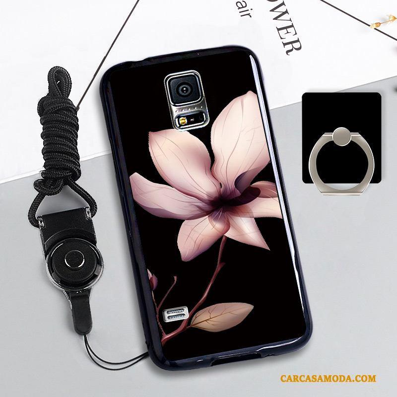 Samsung Galaxy S5 Carcasa Funda Protección Azul Estrellas Silicona Anti-caída