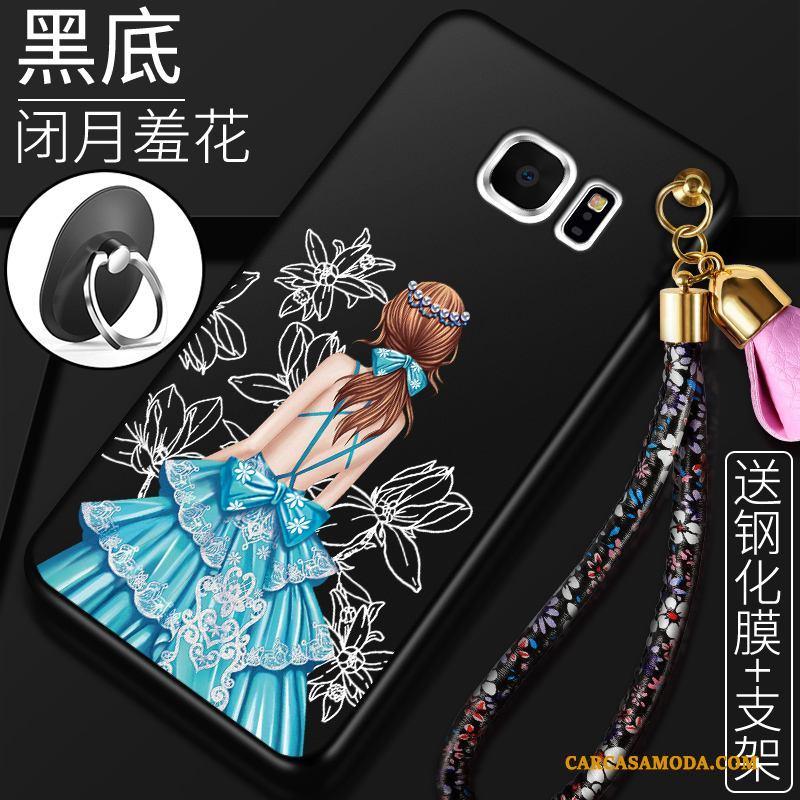 Samsung Galaxy S6 Todo Incluido Funda Silicona Estrellas Rojo Carcasa Suave Teléfono Móvil