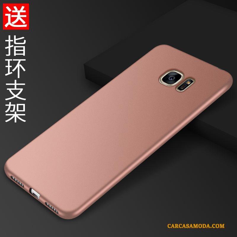 Samsung Galaxy S7 Anti-caída Simple Funda Silicona Carcasa Protección Negro Soporte