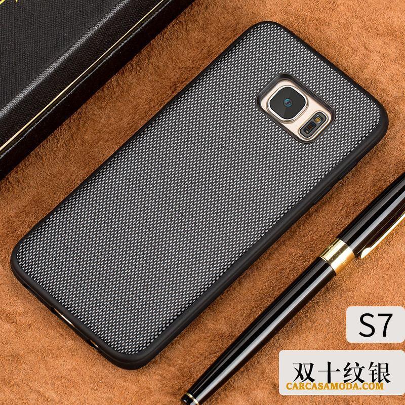 Samsung Galaxy S7 Funda De Cuero Sentir Slim Enfriamiento Rojo Cuero Genuino Silicona
