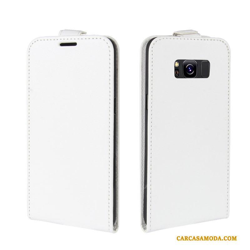 Samsung Galaxy S8 Anti-caída Billeteros Business Funda Silicona Rojo Tarjeta De Cuero
