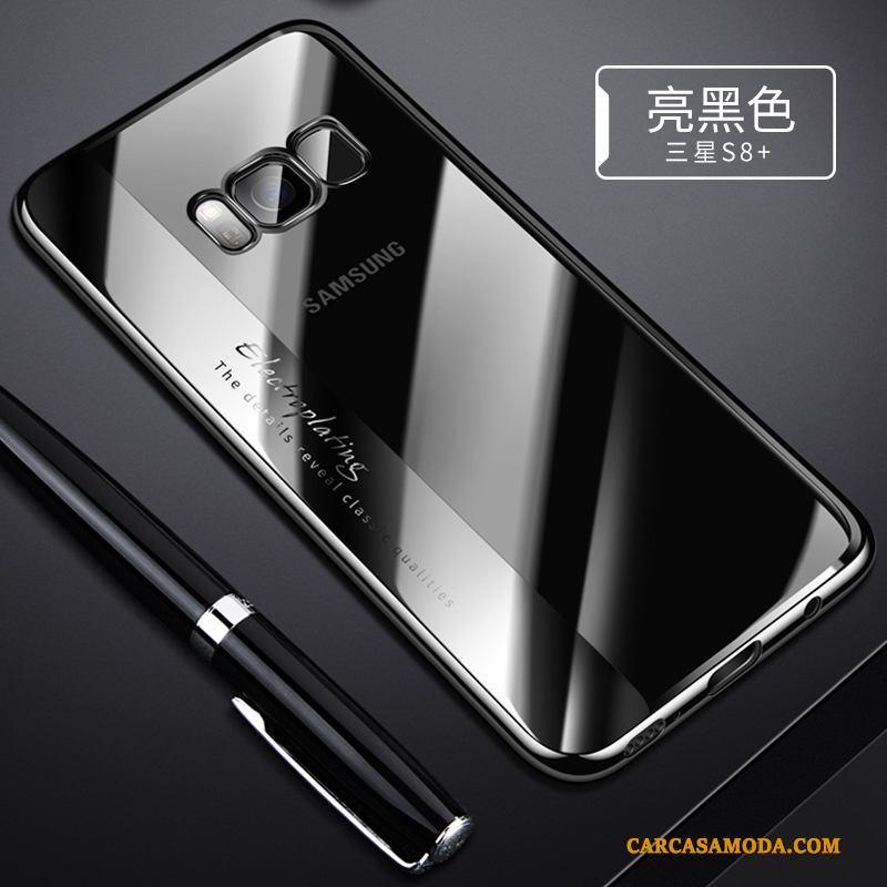 Samsung Galaxy S8+ Azul Suave Funda Nuevo Silicona Todo Incluido Transparente