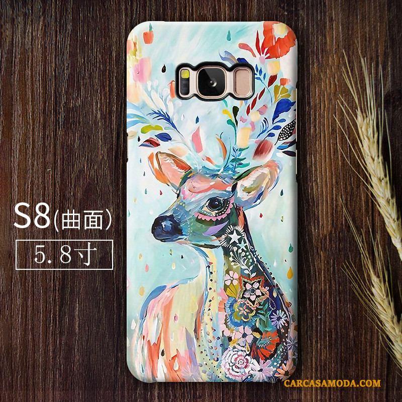 Samsung Galaxy S8 Funda Carcasa Estrellas Teléfono Móvil Duro Silicona Azul Claro