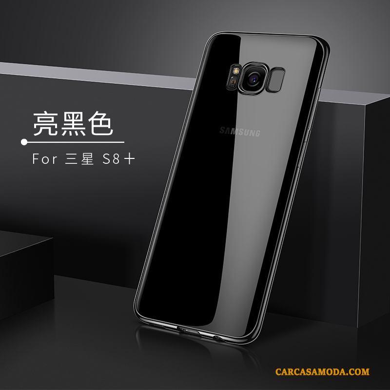 Samsung Galaxy S8+ Funda Suave Transparente Estrellas Tendencia Silicona Carcasa