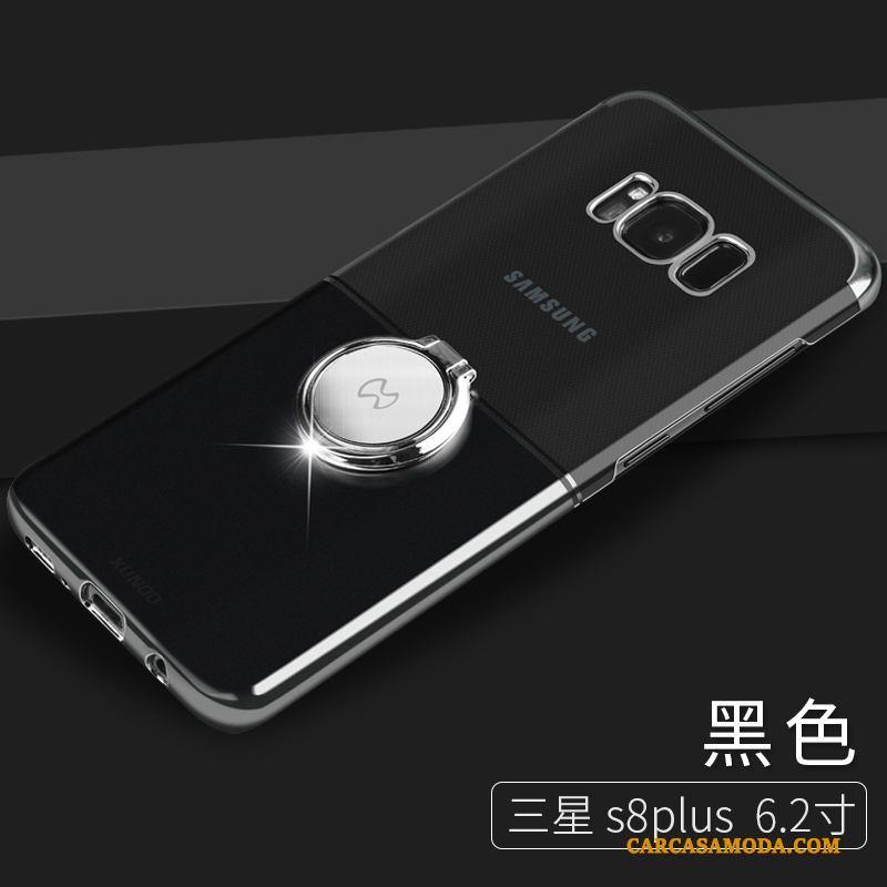 Samsung Galaxy S8+ Hebilla Protección Anti-caída Funda Silicona Negro Carcasa Estrellas