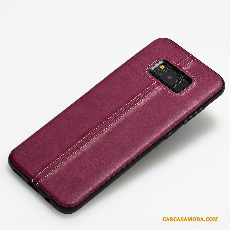 Samsung Galaxy S8 Personalizada Protección Estrellas Funda Silicona Slim Carcasa De Cuero