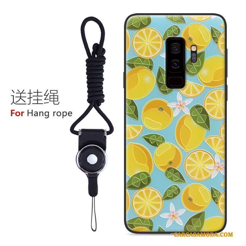Samsung Galaxy S9 Dibujos Animados Carcasa Protección Personalidad Amarillo Pintados Funda