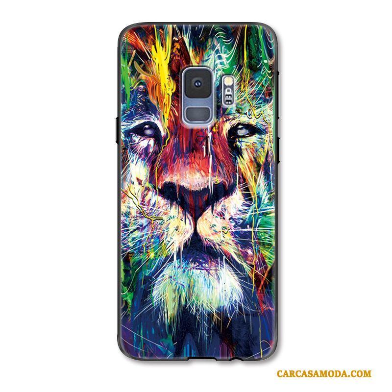 Samsung Galaxy S9+ Funda León Lujo Protección Animal Color Colorido Creativo