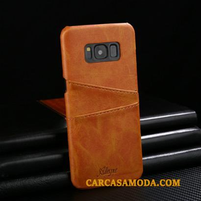 Samsung Galaxy S9 Protección Estrellas Funda Cuero Genuino Teléfono Móvil Rojo Anti-caída