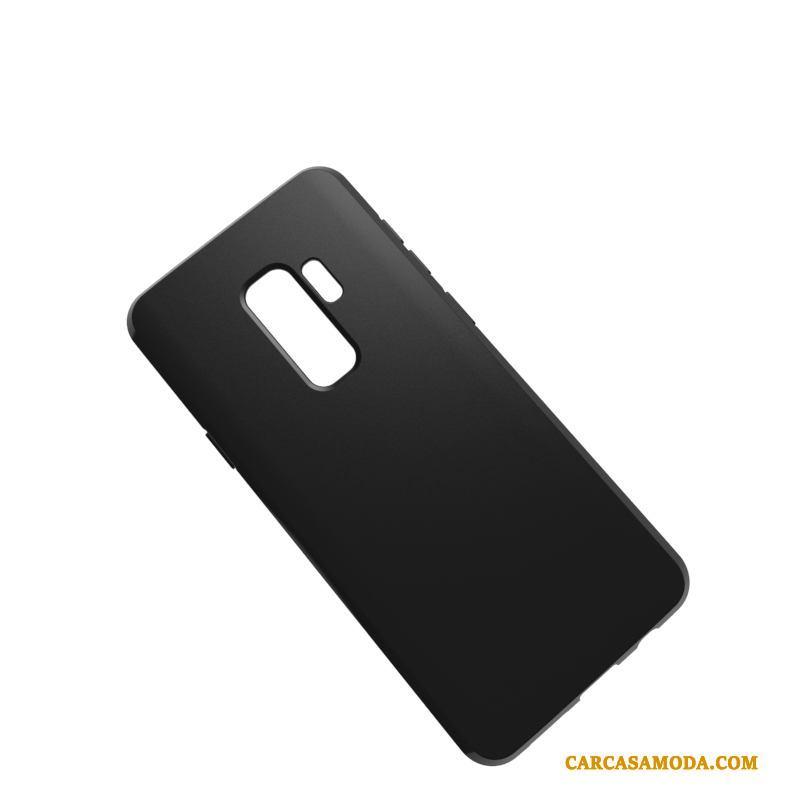 Samsung Galaxy S9+ Simple Transparente Todo Incluido Negro Suave Estrellas Funda Silicona