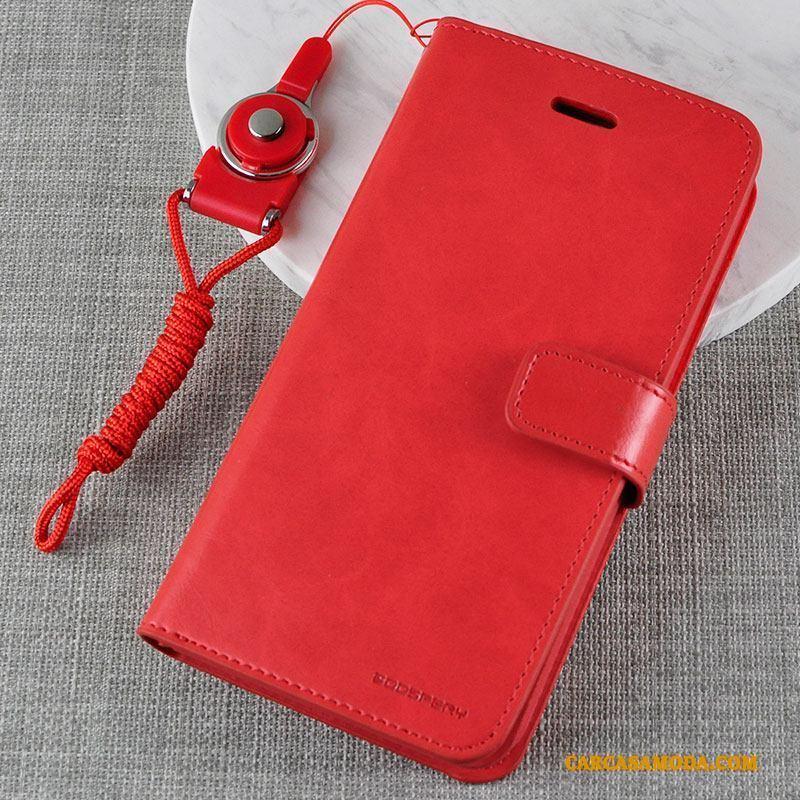 iPhone 5/5s Funda De Cuero Clamshell Anti-caída Protección Billeteros Silicona Verde