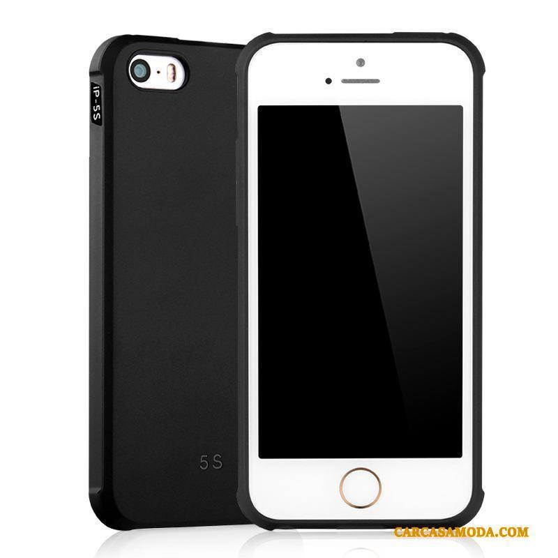 iPhone 5/5s Funda Silicona Todo Incluido Suave Anti-caída Carcasa Protección Nobuck