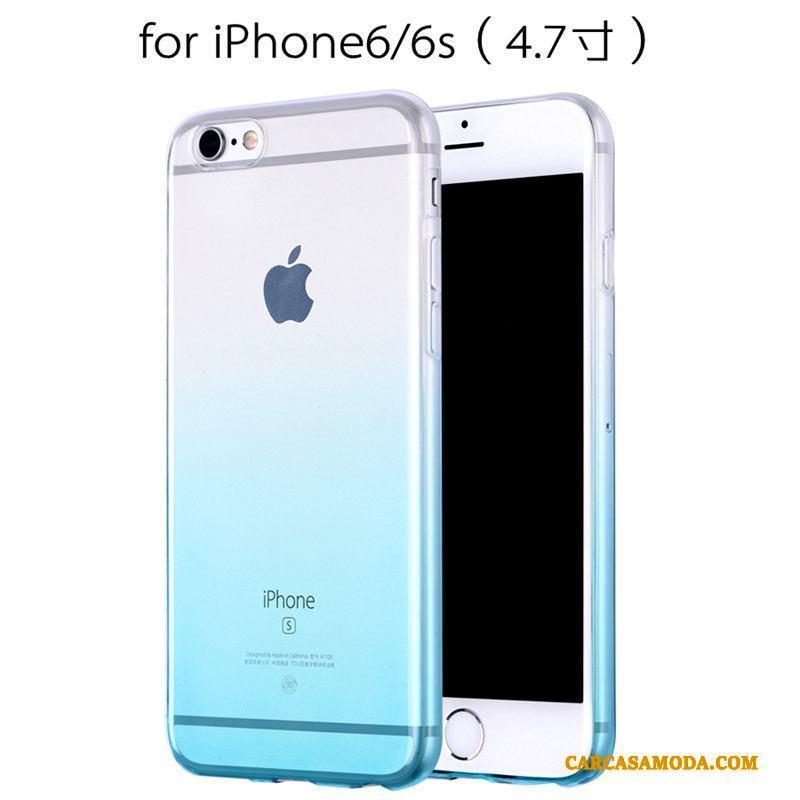 iPhone 6/6s Clamshell Marrón Protección Funda De Cuero Silicona Todo Incluido Amarillo