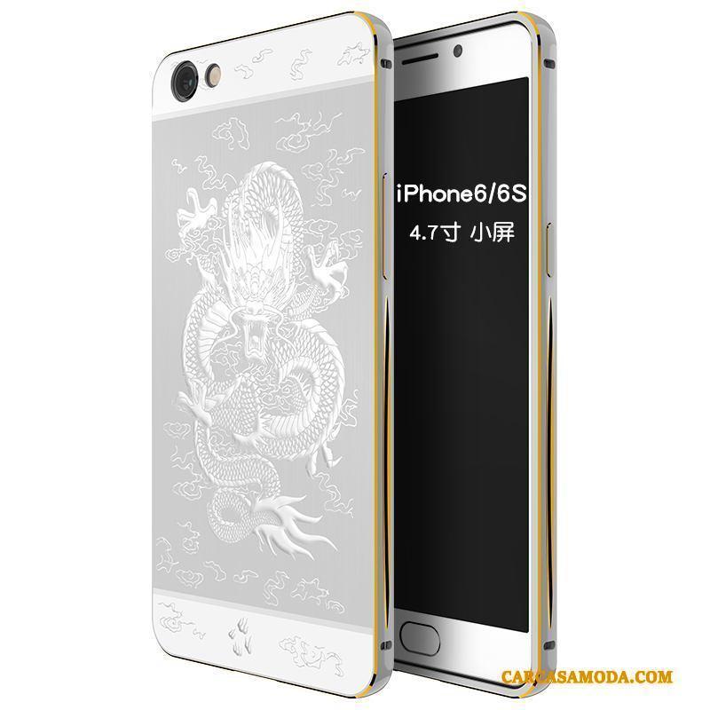 iPhone 6/6s Funda Borde Carcasa Anti-caída Tendencia Protección Creativo Metal