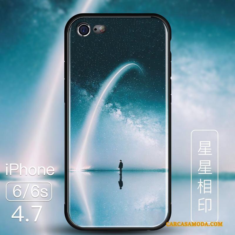 iPhone 6/6s Funda Nuevo Tendencia Todo Incluido Protección Azul Vidrio Anti-caída