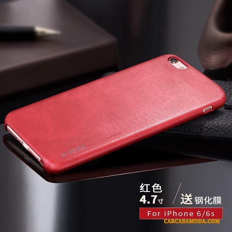 iPhone 6/6s Funda Silicona Cuero Oscuro Protección Anti-caída Carcasa De Cuero