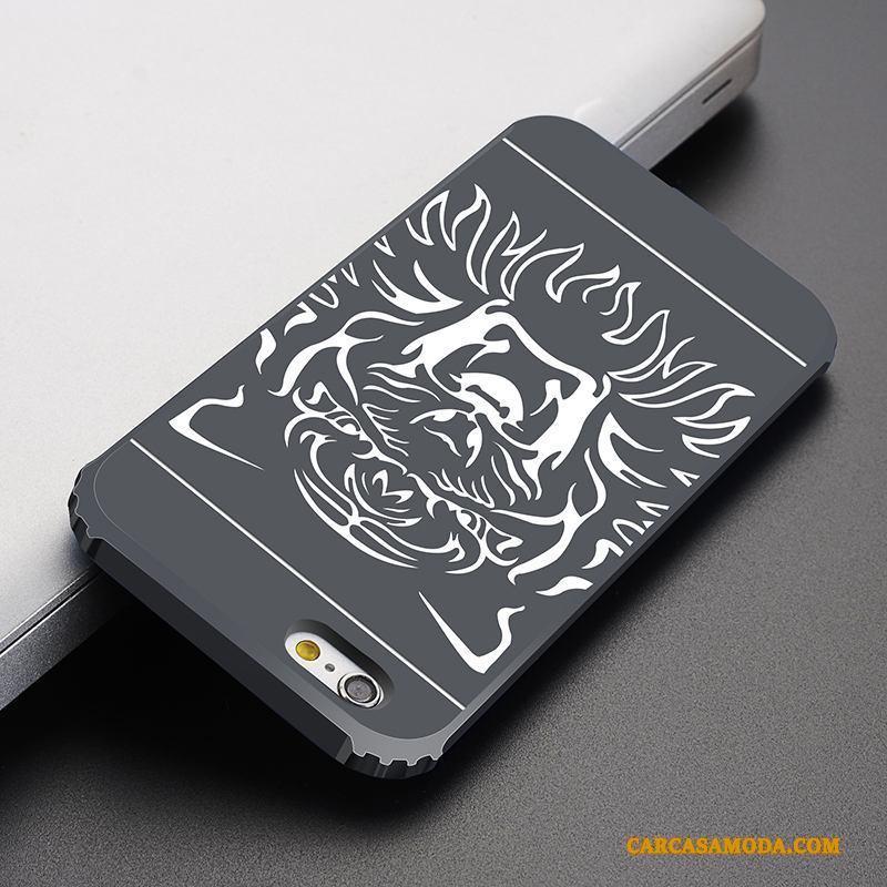 iPhone 6/6s Funda Suave Delgado Nobuck Silicona Anti-caída Azul Carcasa
