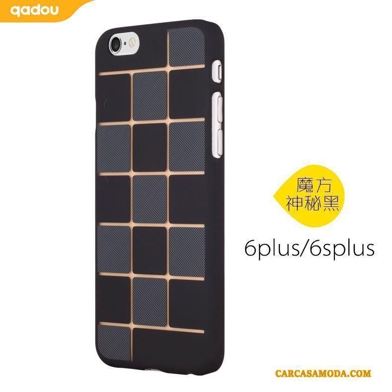iPhone 6/6s Plus Carcasa Funda Azul Polvo Nobuck Creativo Silicona