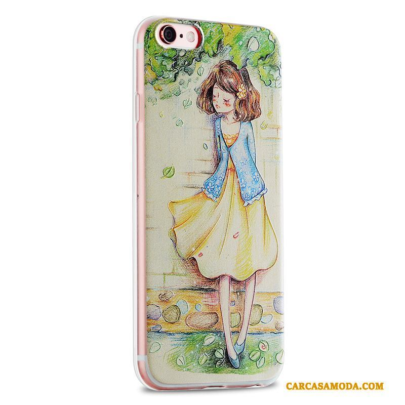 iPhone 6/6s Plus Pu Carcasa Fresco Funda Silicona Pequeñas Amarillo
