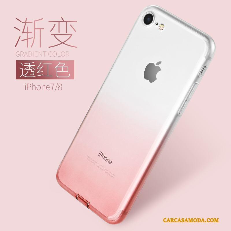 iPhone 7 Color De Degradado Funda Silicona Transparente Suave Creativo Azul Claro