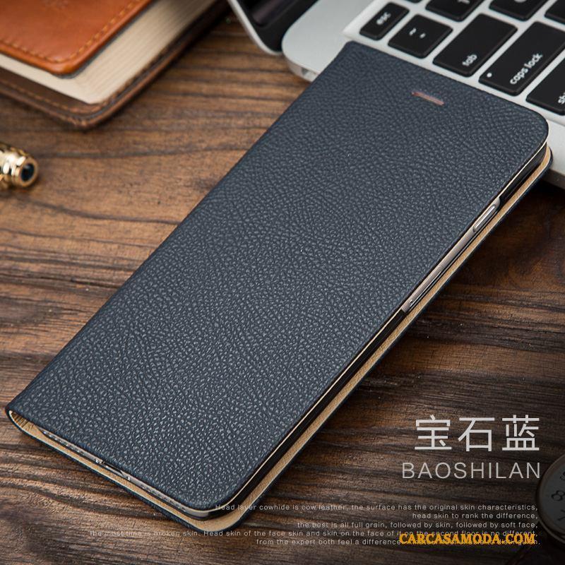 iPhone 7 Funda Silicona Folio De Cuero Nuevo Carcasa Cuero Genuino Teléfono Móvil