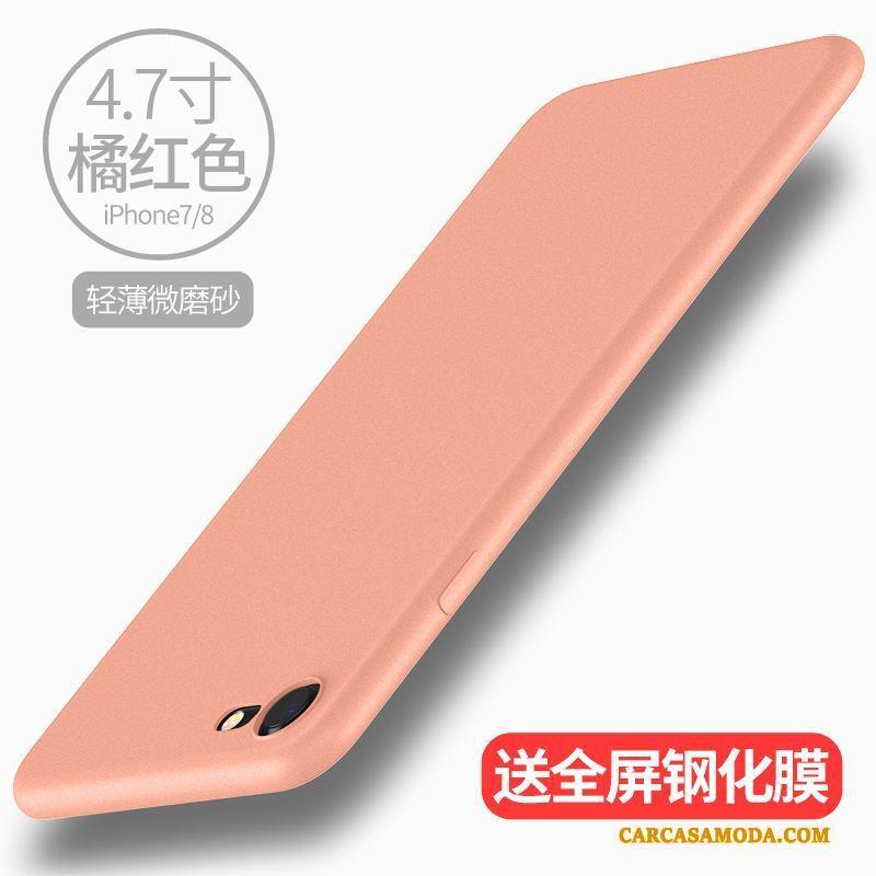 iPhone 7 Funda Slim Blanco Suave Silicona Nuevo Nobuck Carcasa