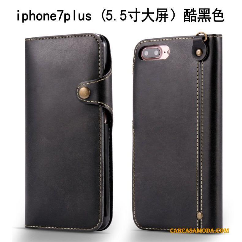 d11d06b9b34 ... iPhone 7 Plus Funda De Cuero Suave Anti-caída Carcasa Folio Silicona  Color Claro ...