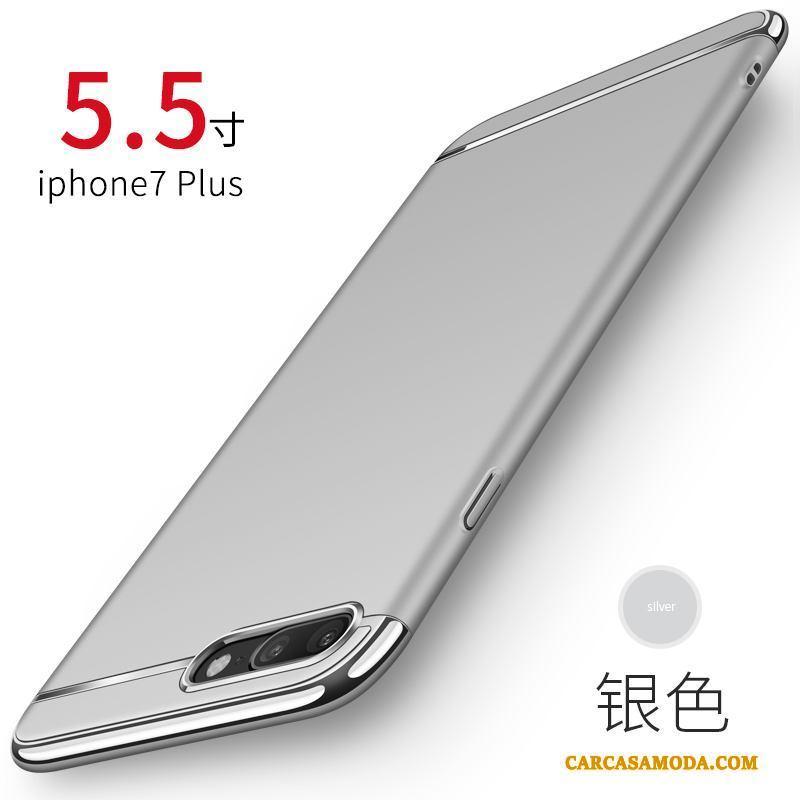 iPhone 7 Plus Funda Nobuck Anti-caída Protección Rojo Carcasa Silicona